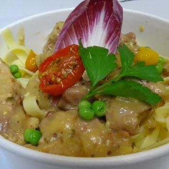 Plat chaud : Sauté de Porc et ses Tagliatelles-0